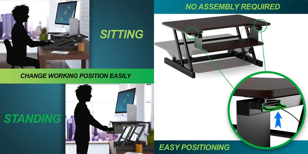 Sit to Stand Desk, Ergonomic